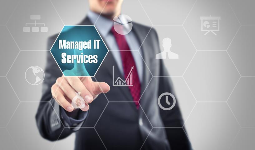 Individual clicking the Managed IT Services icon