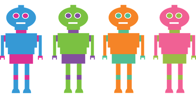 four robots graphic