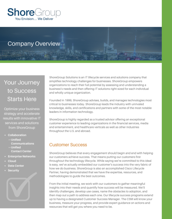 Company Overview Brochure Cover