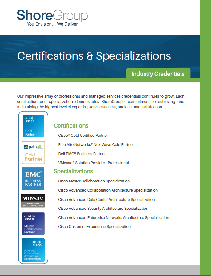 ShoreGroup_Certifications_Specializations_Industry_Credentials
