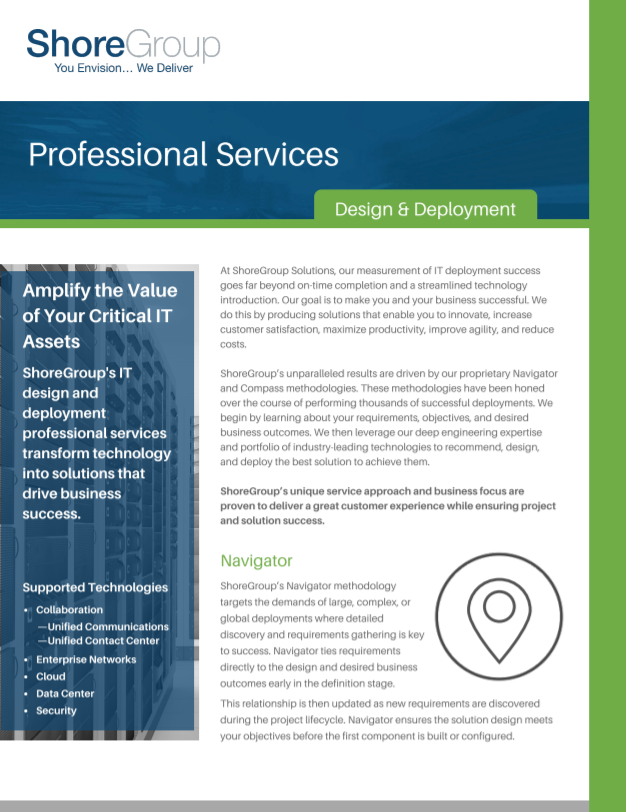 Professional Services Design and Deployment Cover