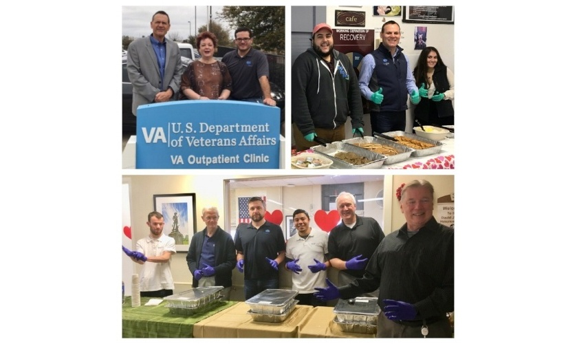 ShoreGroup employees at Veteran's Administration for give back day