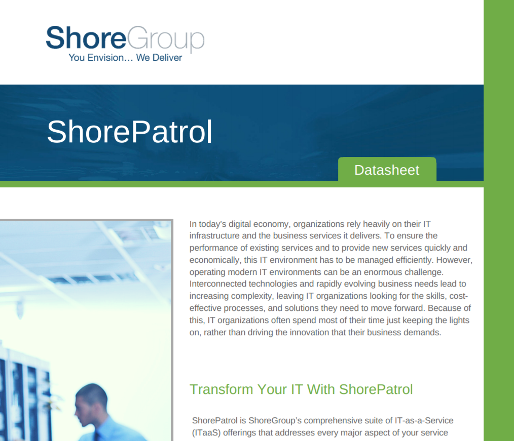 ShorePatrol Managed Services Resources page